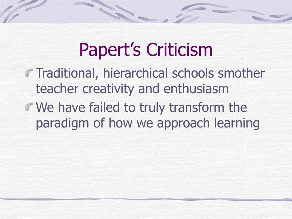 Papert's Criticism