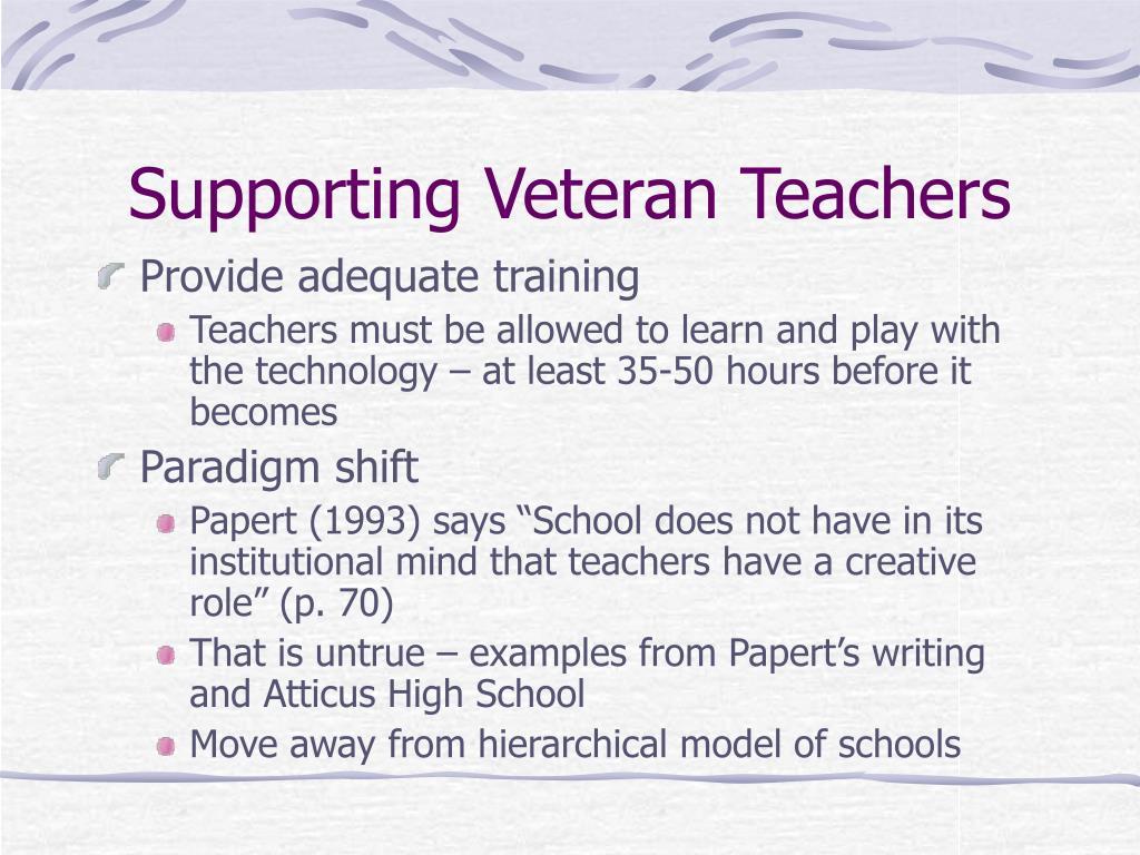 Supporting Veteran Teachers