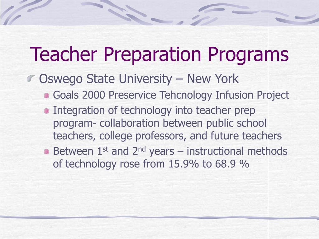 Teacher Preparation Programs