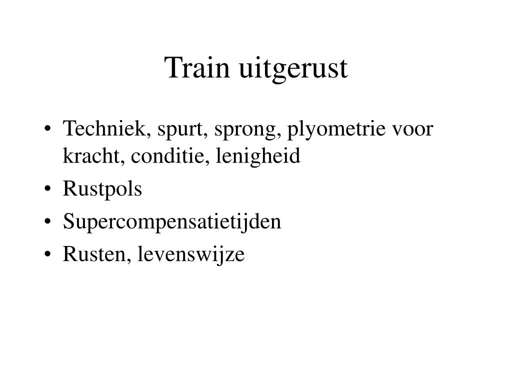 Train uitgerust