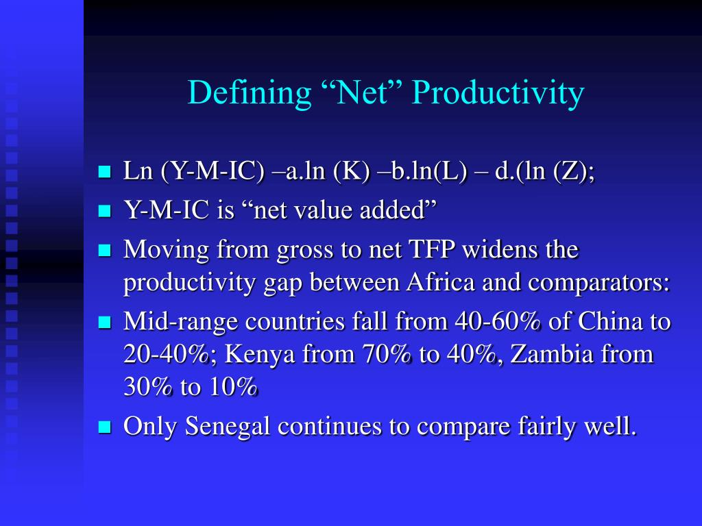 "Defining ""Net"" Productivity"