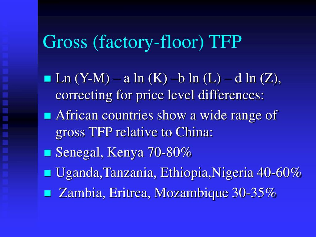 Gross (factory-floor) TFP