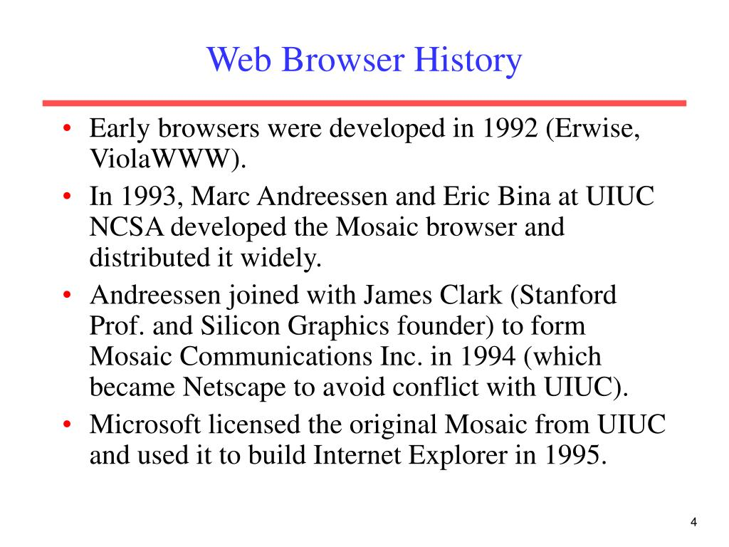 Web Browser History
