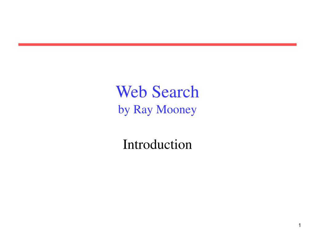 web search by ray mooney l.