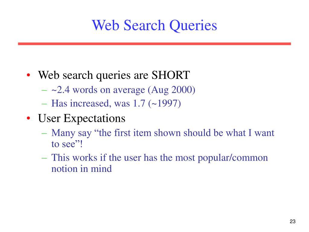 Web Search Queries
