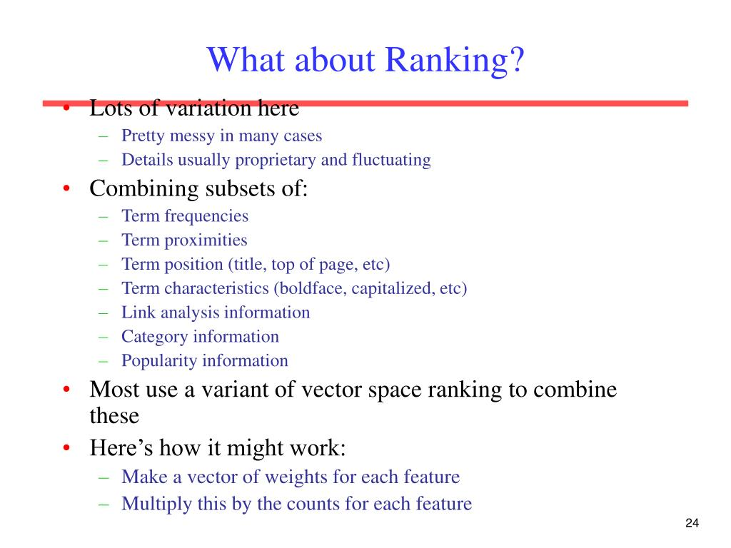 What about Ranking?