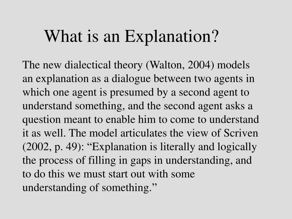 What is an Explanation?