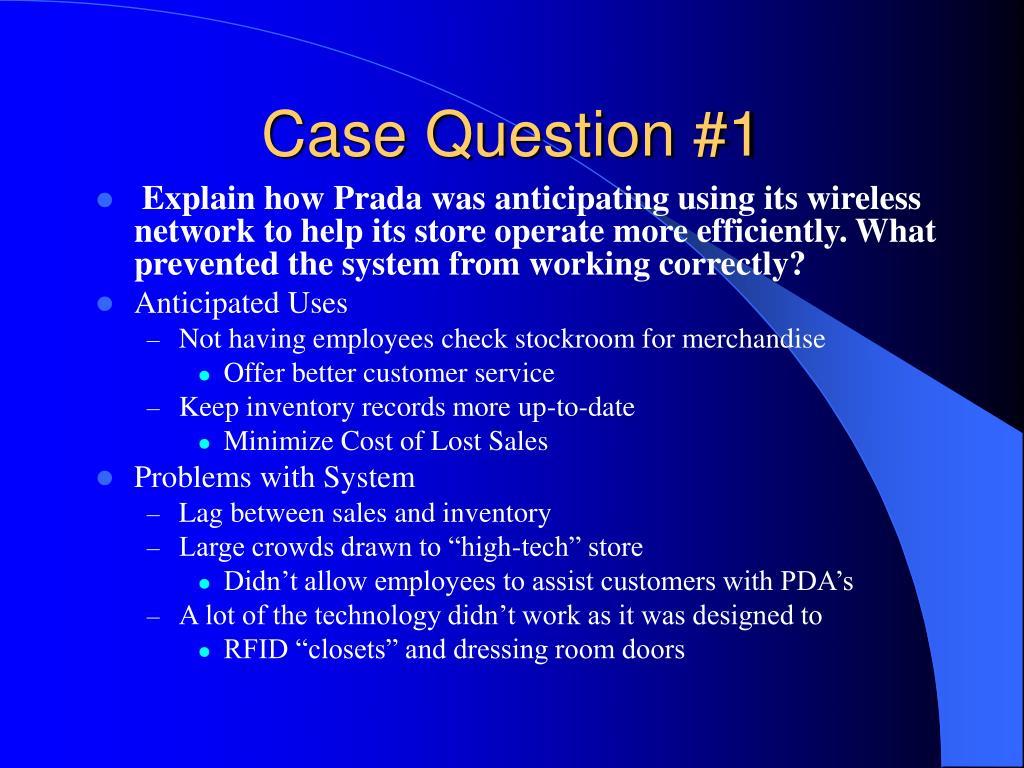 Case Question #1