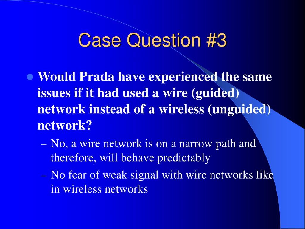 Case Question #3