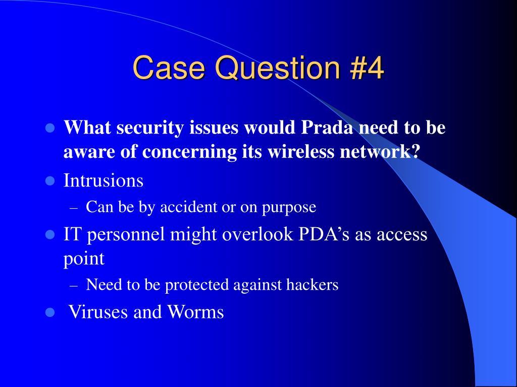Case Question #4