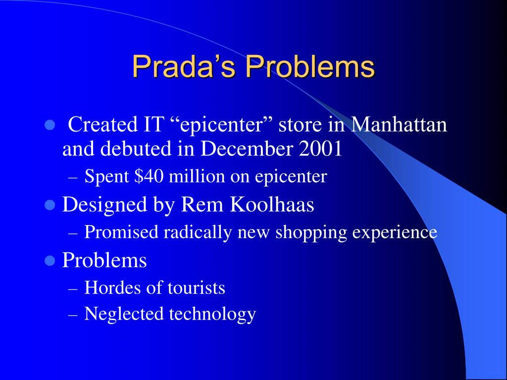 Prada's Problems