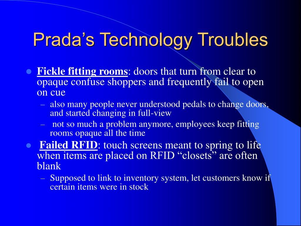 Prada's Technology Troubles