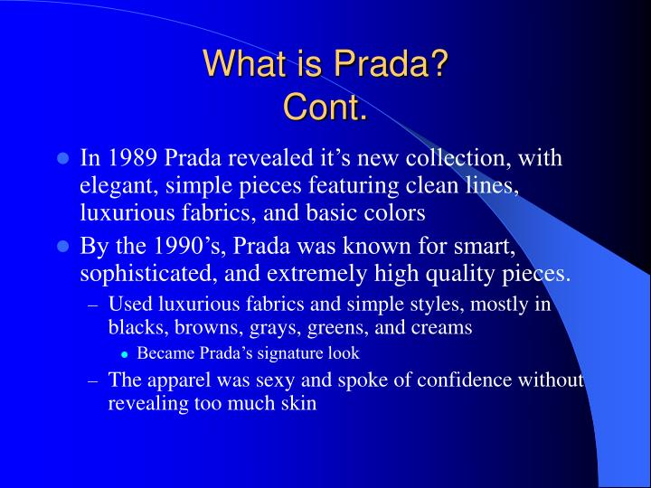 What is prada cont