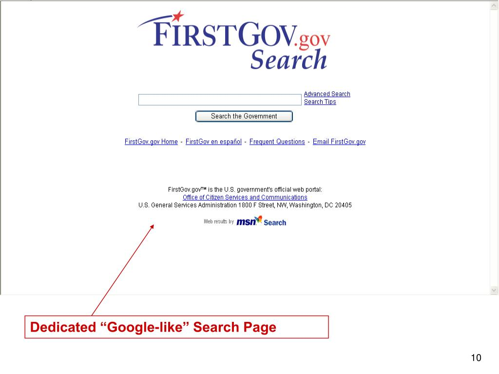 "Dedicated ""Google-like"" Search Page"