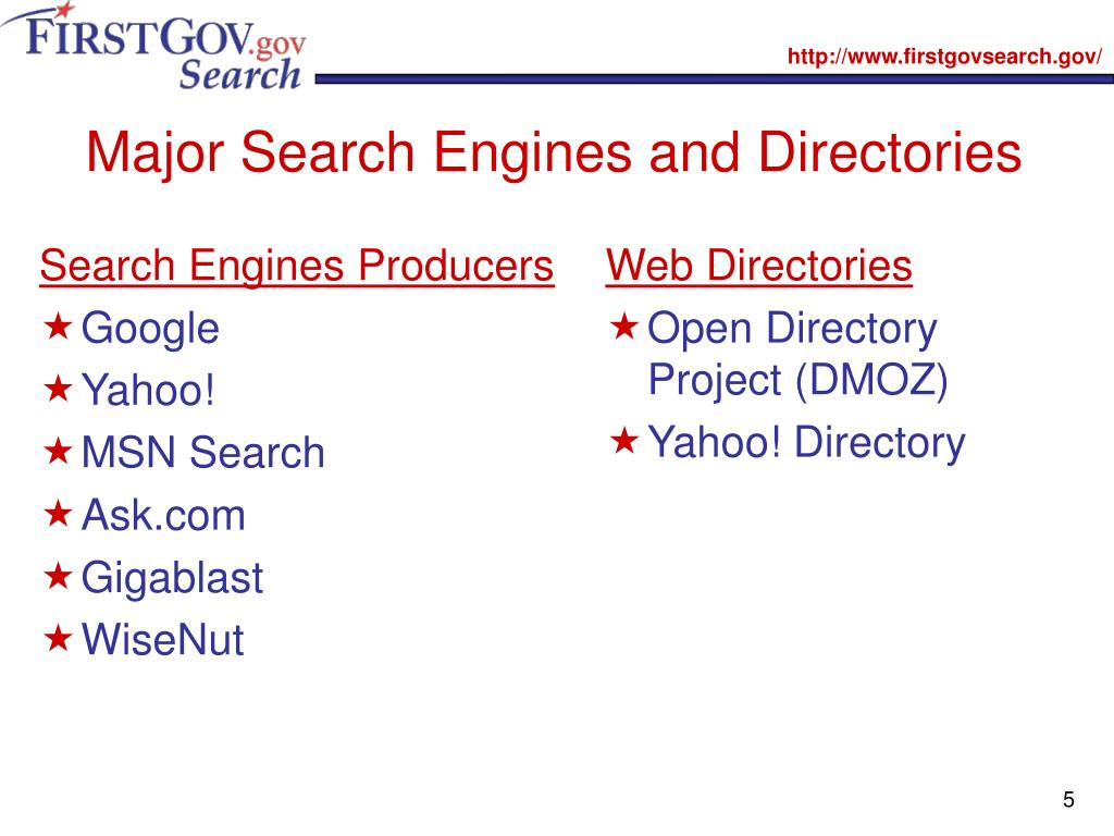 Search Engines Producers