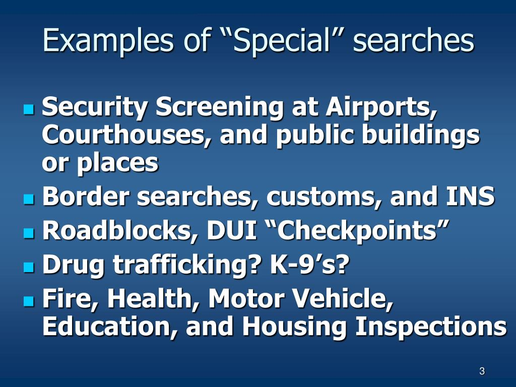 "Examples of ""Special"" searches"