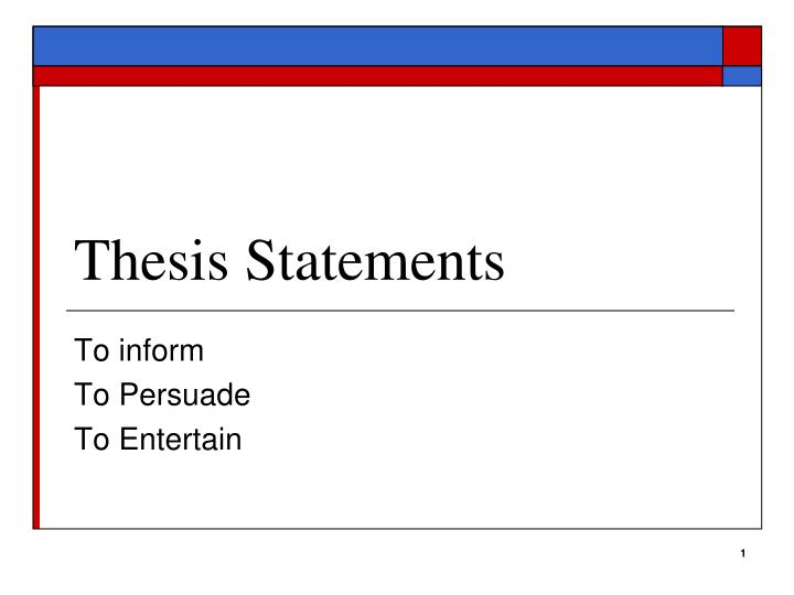 integrated thesis statement Developing a thesis  think of yourself a good, standard place for your thesis statement is at the end of an introductory paragraph, especially in shorter.
