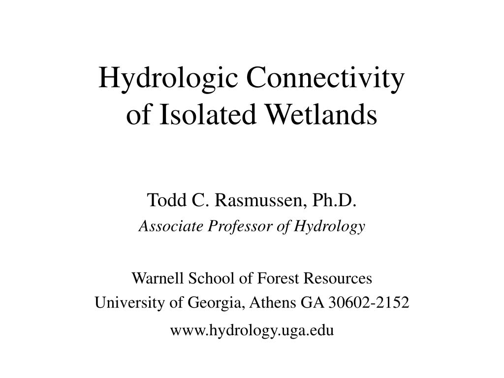 hydrologic connectivity of isolated wetlands
