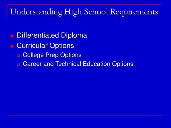 Understanding High School Requirements