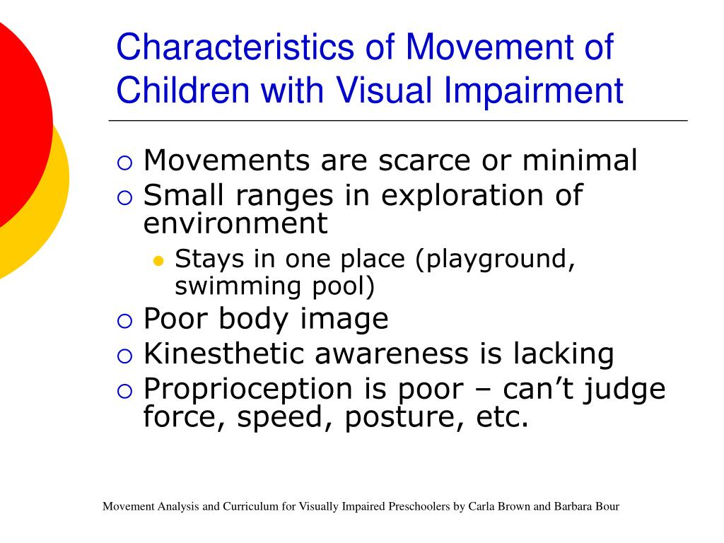 Characteristics of Movement of Children with Visual Impairment