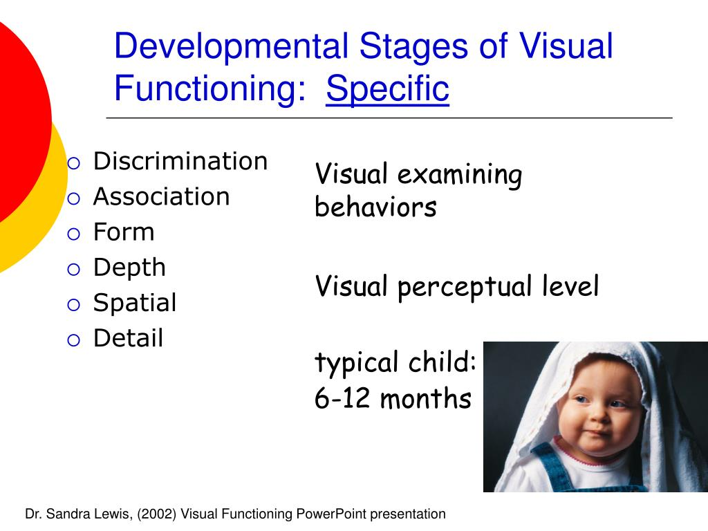 Developmental Stages of Visual Functioning: