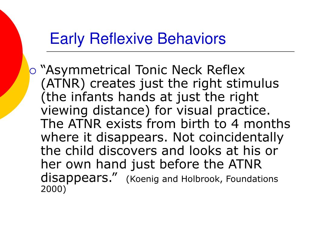 Early Reflexive Behaviors