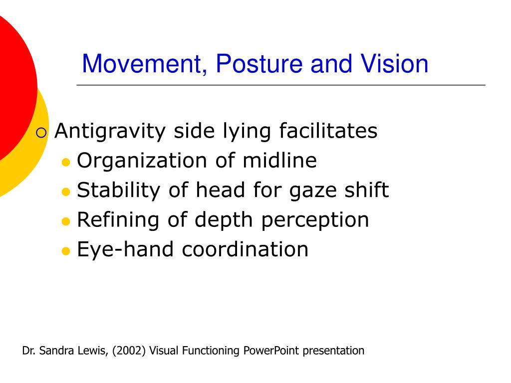 Movement, Posture and Vision