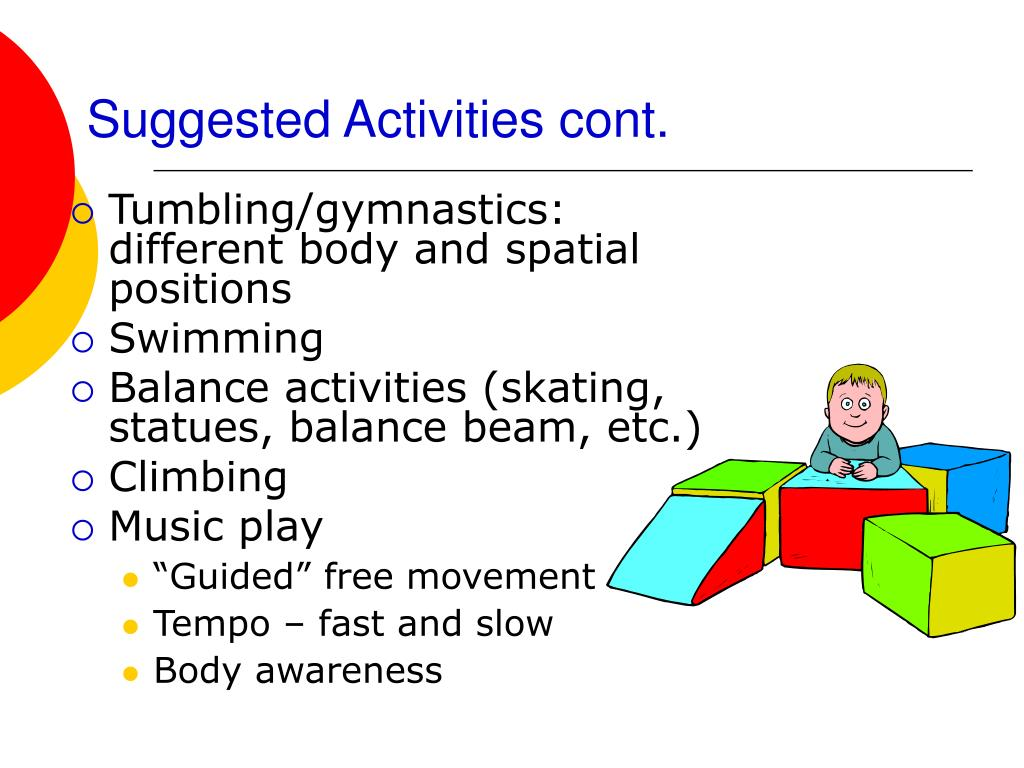 Suggested Activities cont.