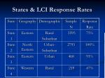 states lci response rates