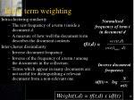 index term weighting36