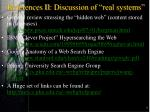 references ii discussion of real systems