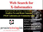 web search for x informatics