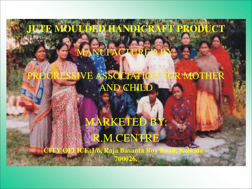 jute moulded handicraft product manufactured by progressive association for mother and child