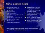 meta search tools