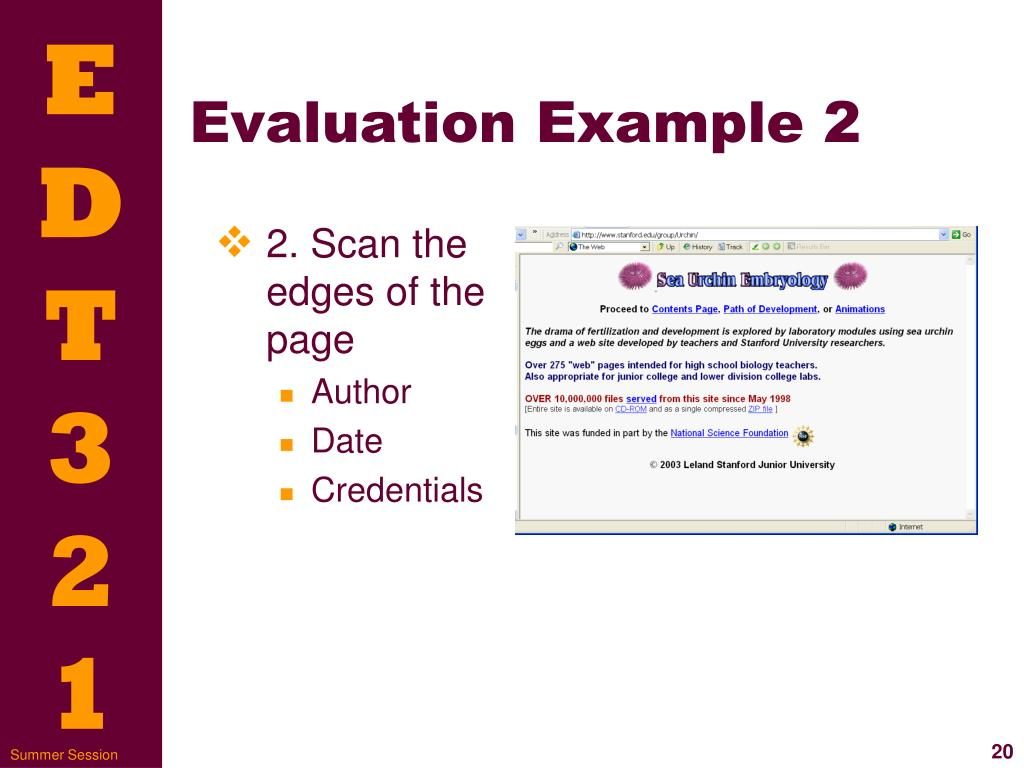 Evaluation Example 2
