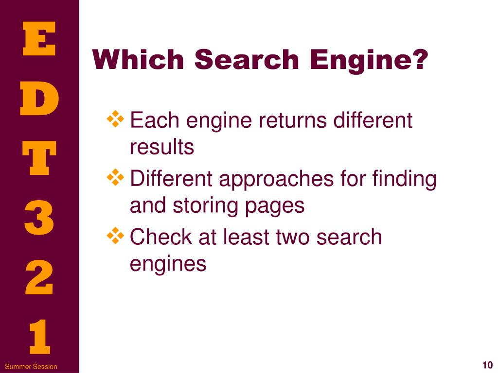 Which Search Engine?