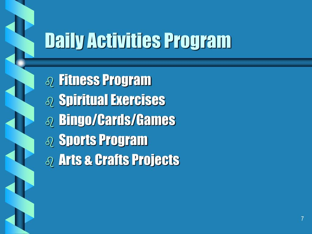 Daily Activities Program