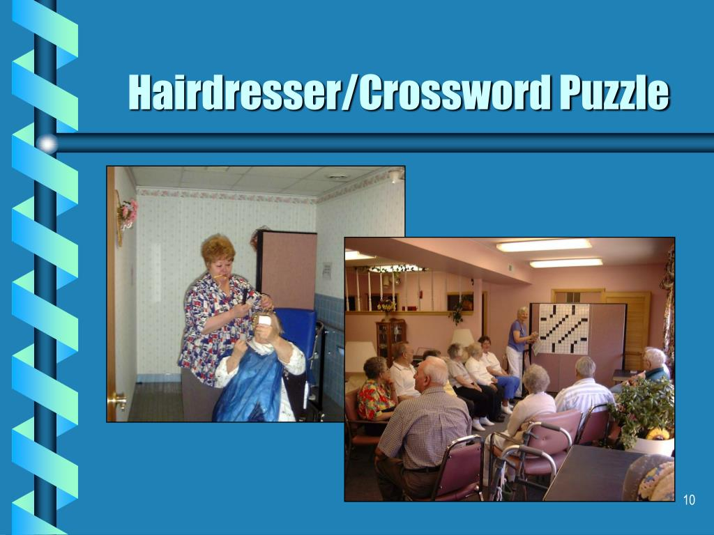 Hairdresser/Crossword Puzzle