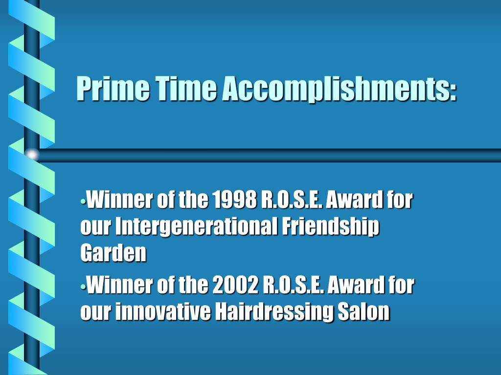 Prime Time Accomplishments: