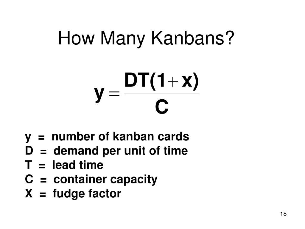 How Many Kanbans?