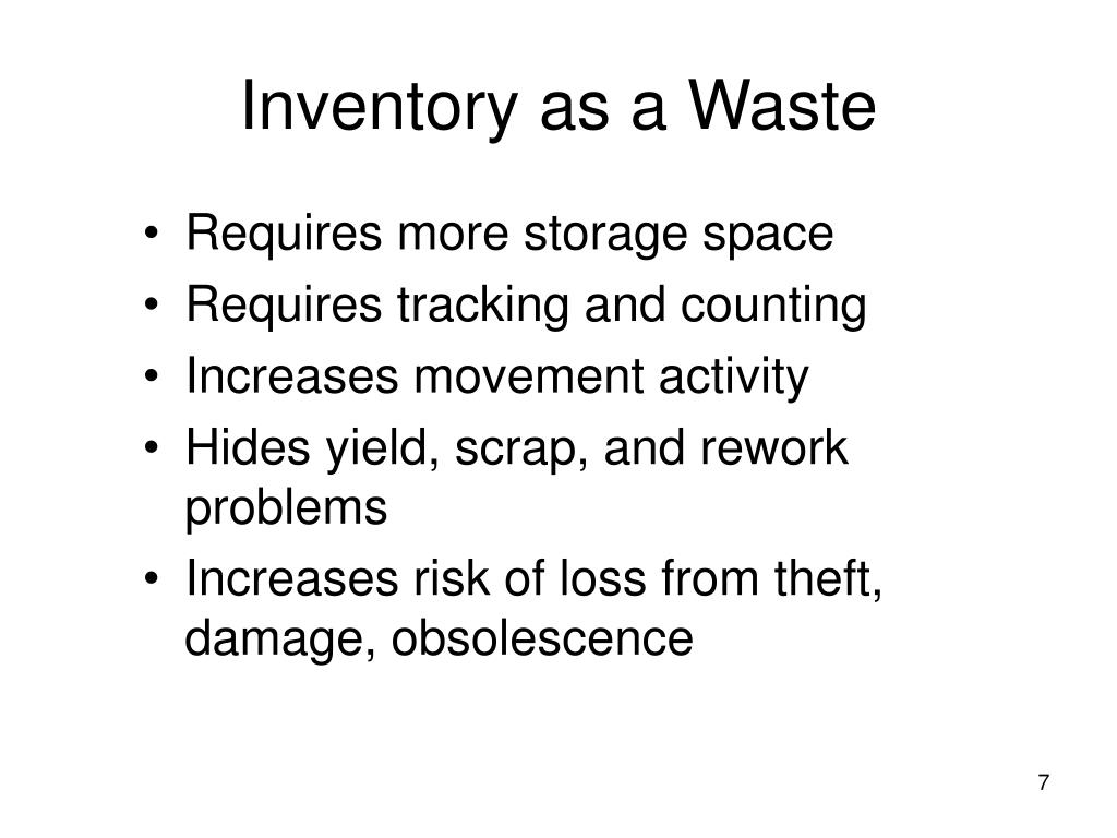 Inventory as a Waste