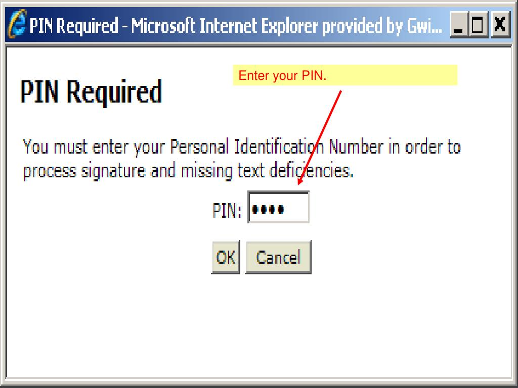 Enter your PIN.