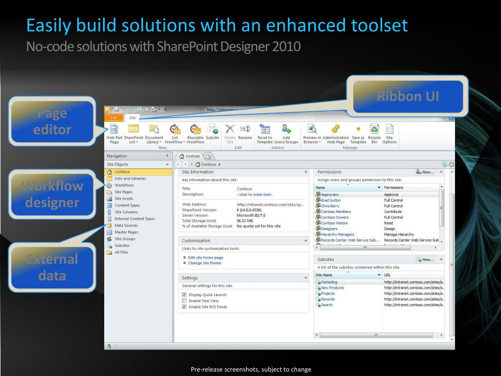 Easily build solutions with an enhanced toolset