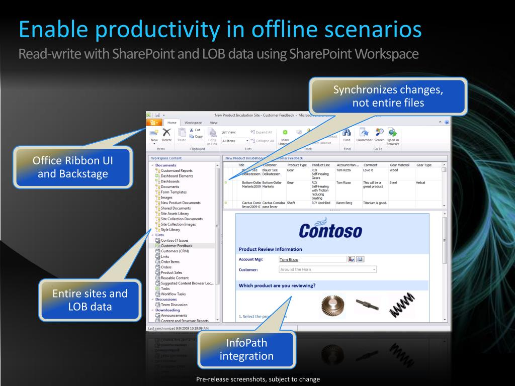 Enable productivity in offline scenarios