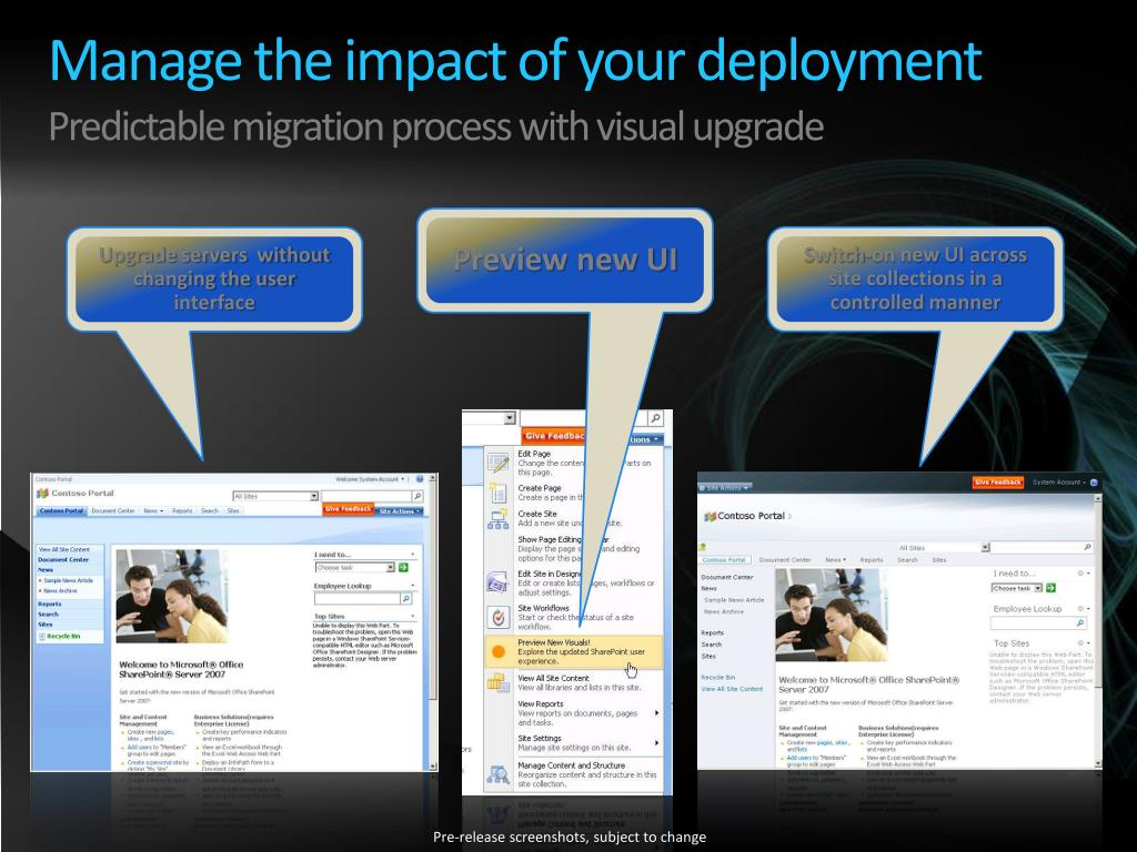 Manage the impact of your deployment