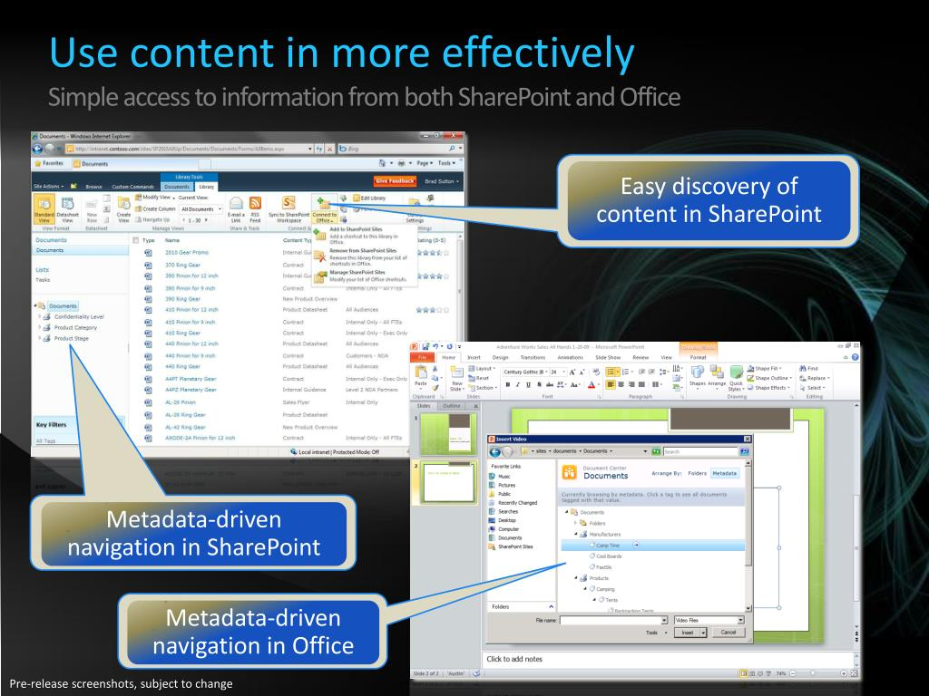 Use content in more effectively