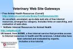 veterinary web site gateways