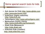 some special search tools for kids