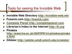 tools for seeing the invisible web