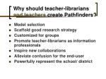 why should teacher librarians and teachers create pathfinders